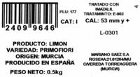 Limones - Ingredientes - es