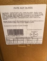 Pate aux olives - Product - fr