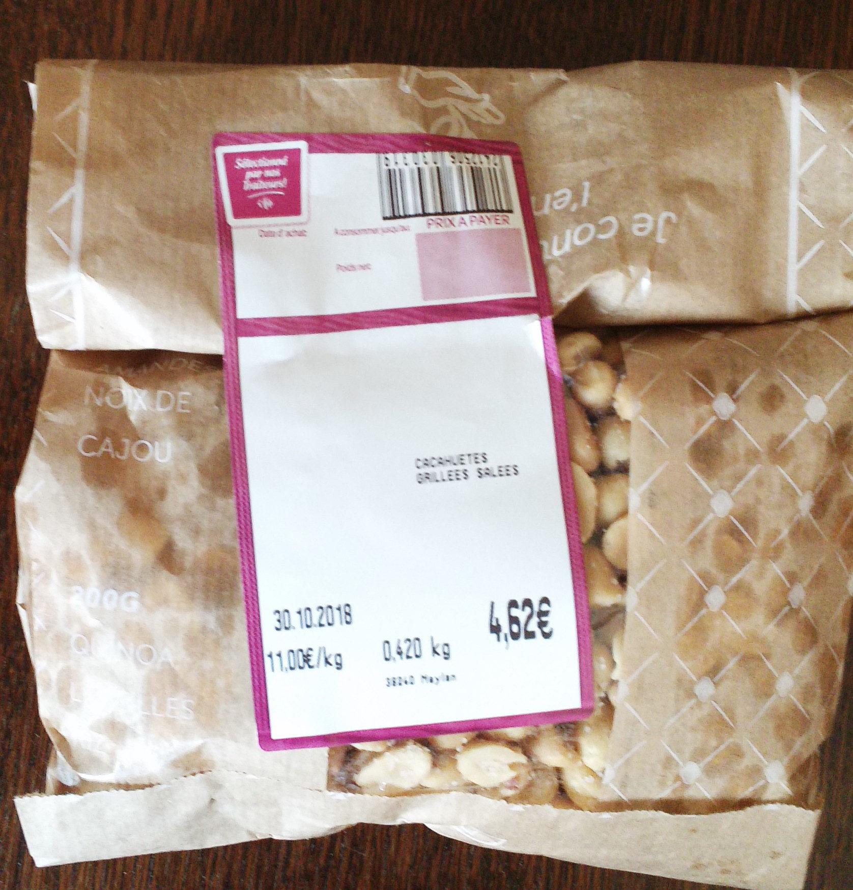 Cacahuetes Grillées Salées - Produit - fr