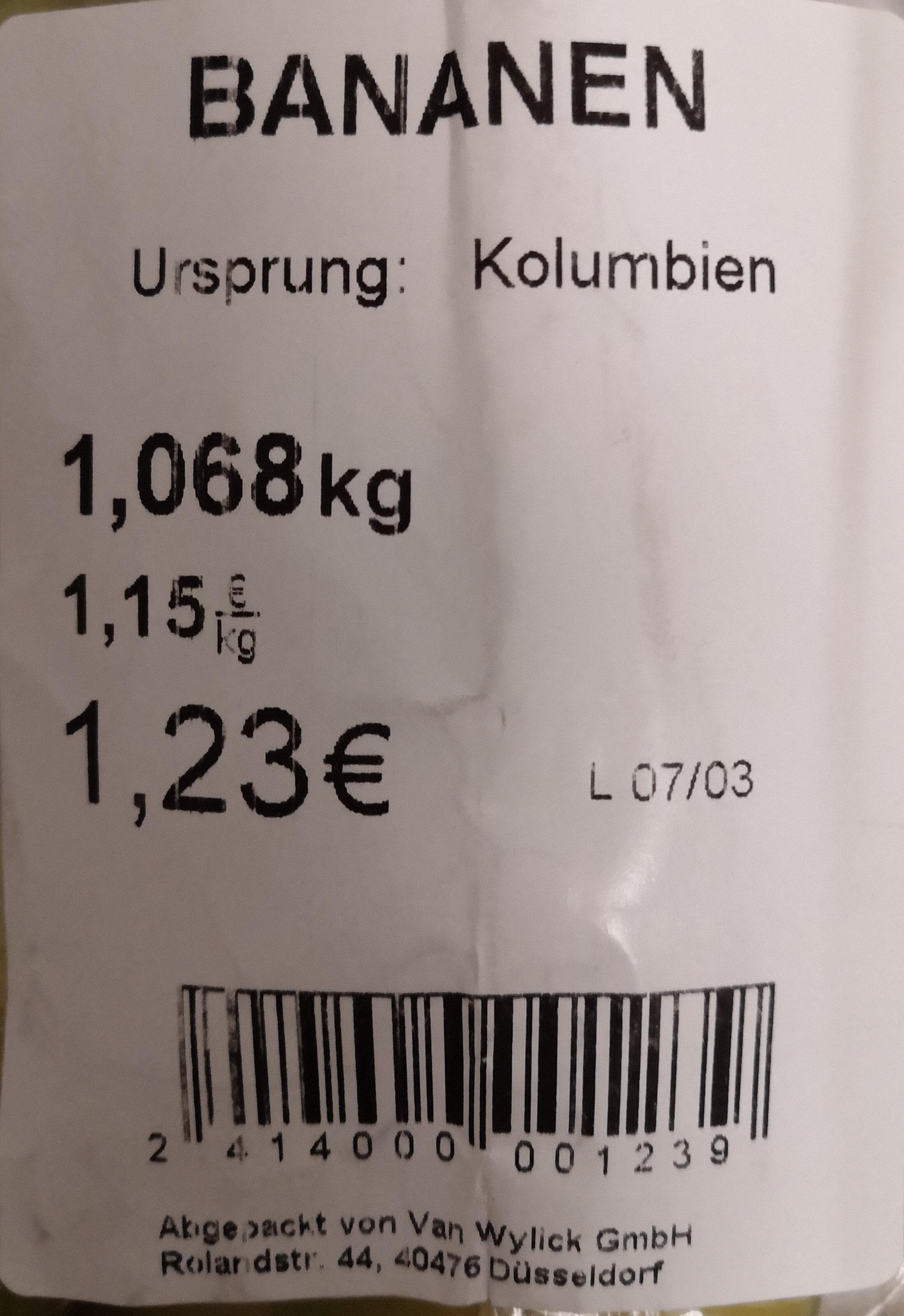 Turbana Bananen - Ingrediënten