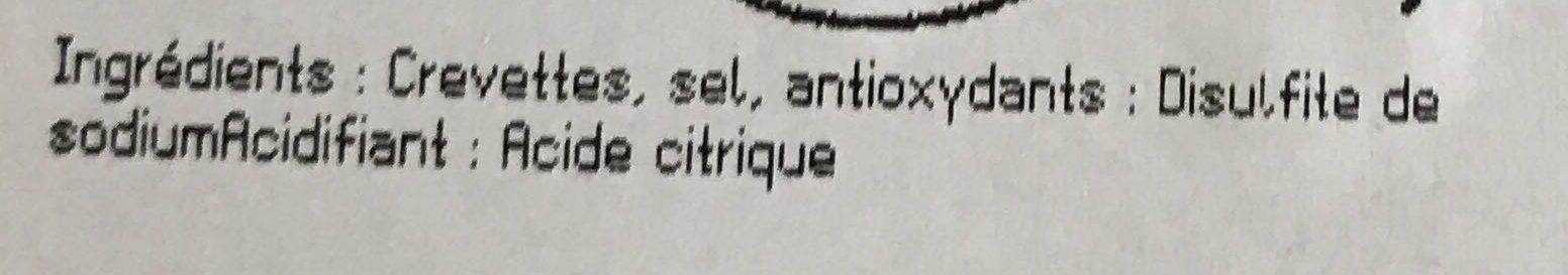 Crevettes cuites - Ingredients - fr