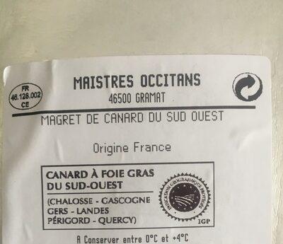 Magret de canard du Sud-Ouest - Ingredients - fr