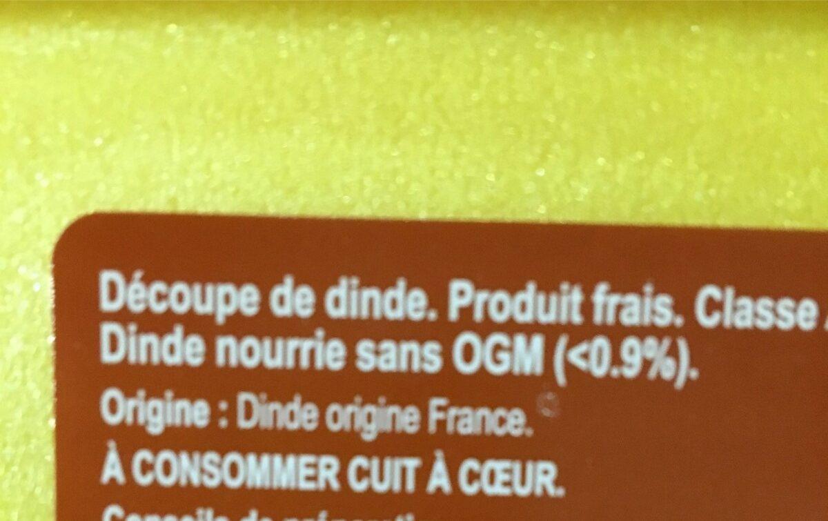 Escalope de dinde - Ingrédients - fr