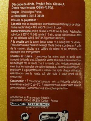Escalope de Dinde - Informations nutritionnelles - fr