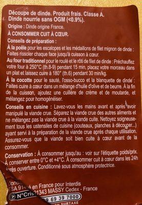 Escalope de Dinde extra fine - Ingrédients - fr