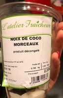 Noix de coco - Ingredients