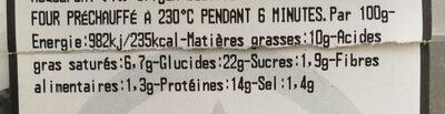 pizza 4 fromaggi - Voedingswaarden - fr