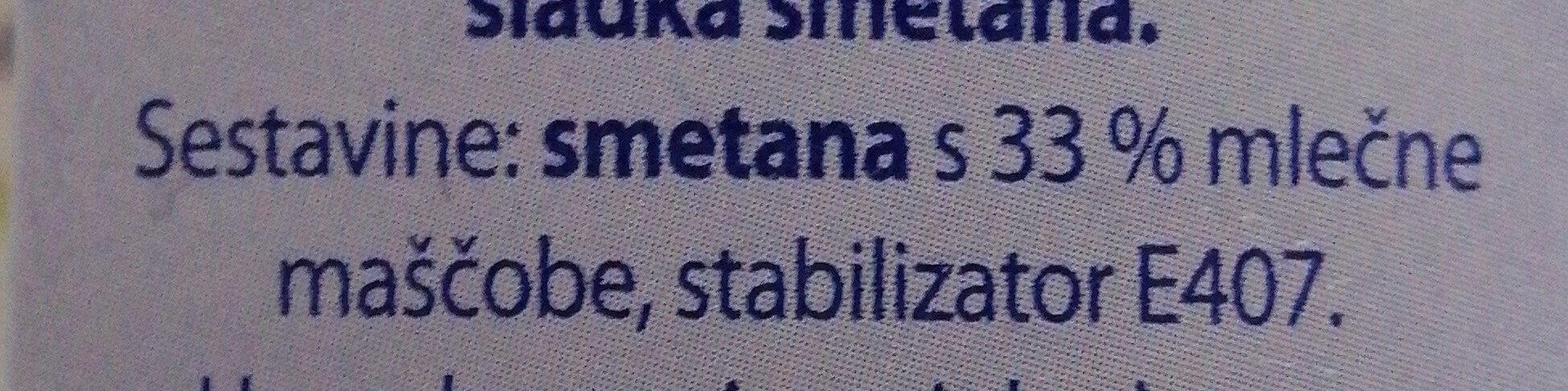 Smetana za stepanje - Ingredients