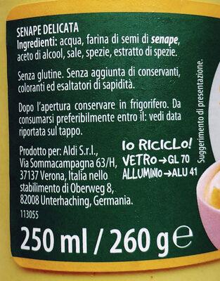 Senape delicata - Ingrédients - it