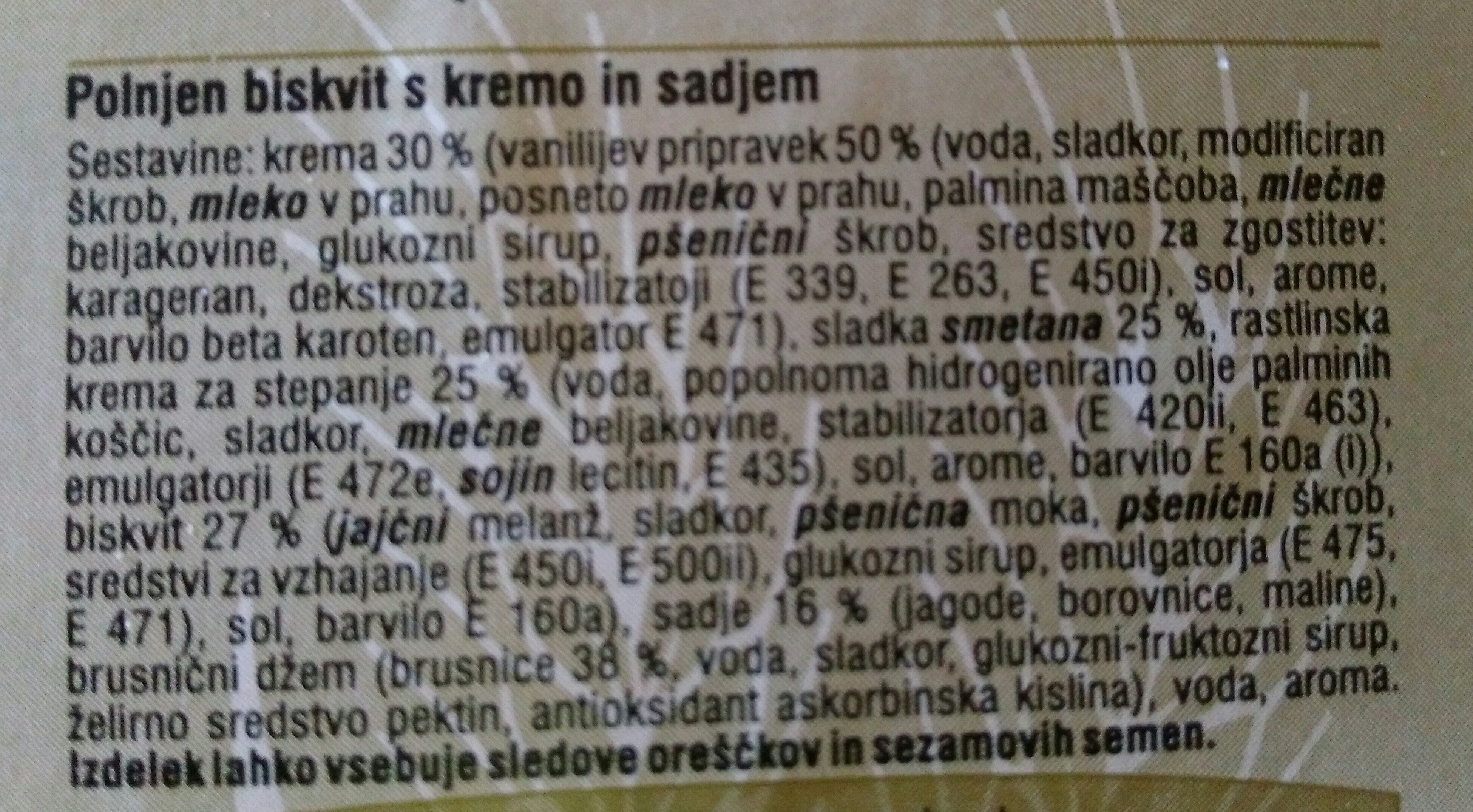 Pohorska omleta premium - Ingrediënten - sl