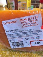 Mimolette demi-vieille française - Produit - fr