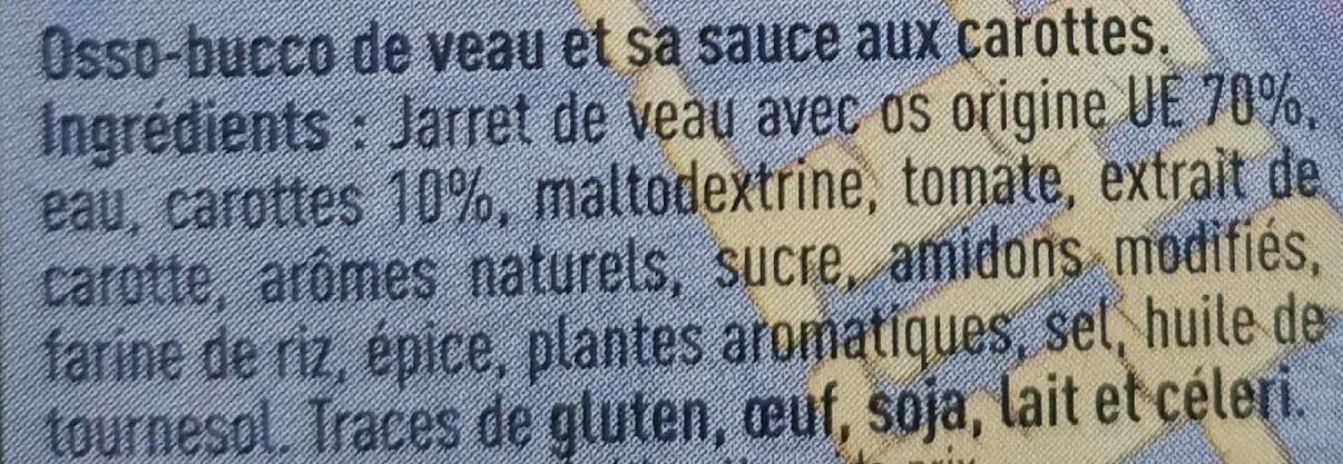 Osso Bucco de veau - Ingredients - fr