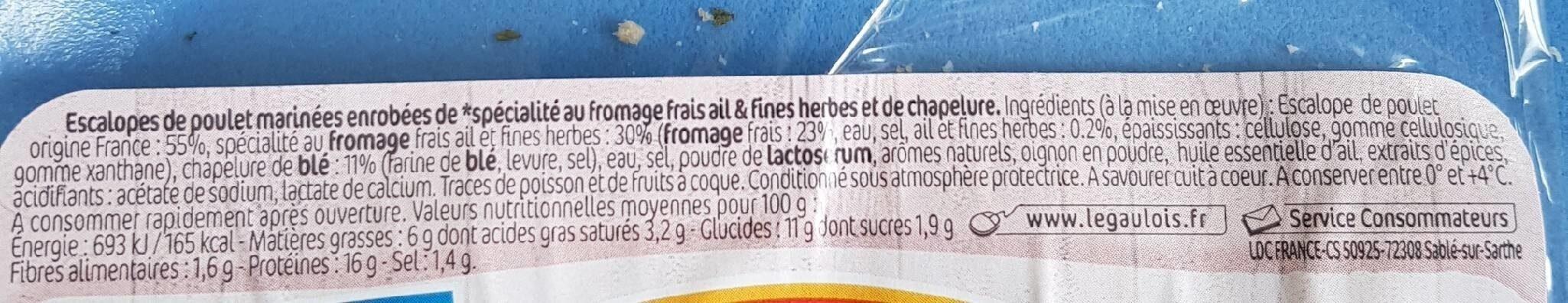 Les milanaises - Ingrédients