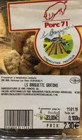 Gratons de porc - Product - fr