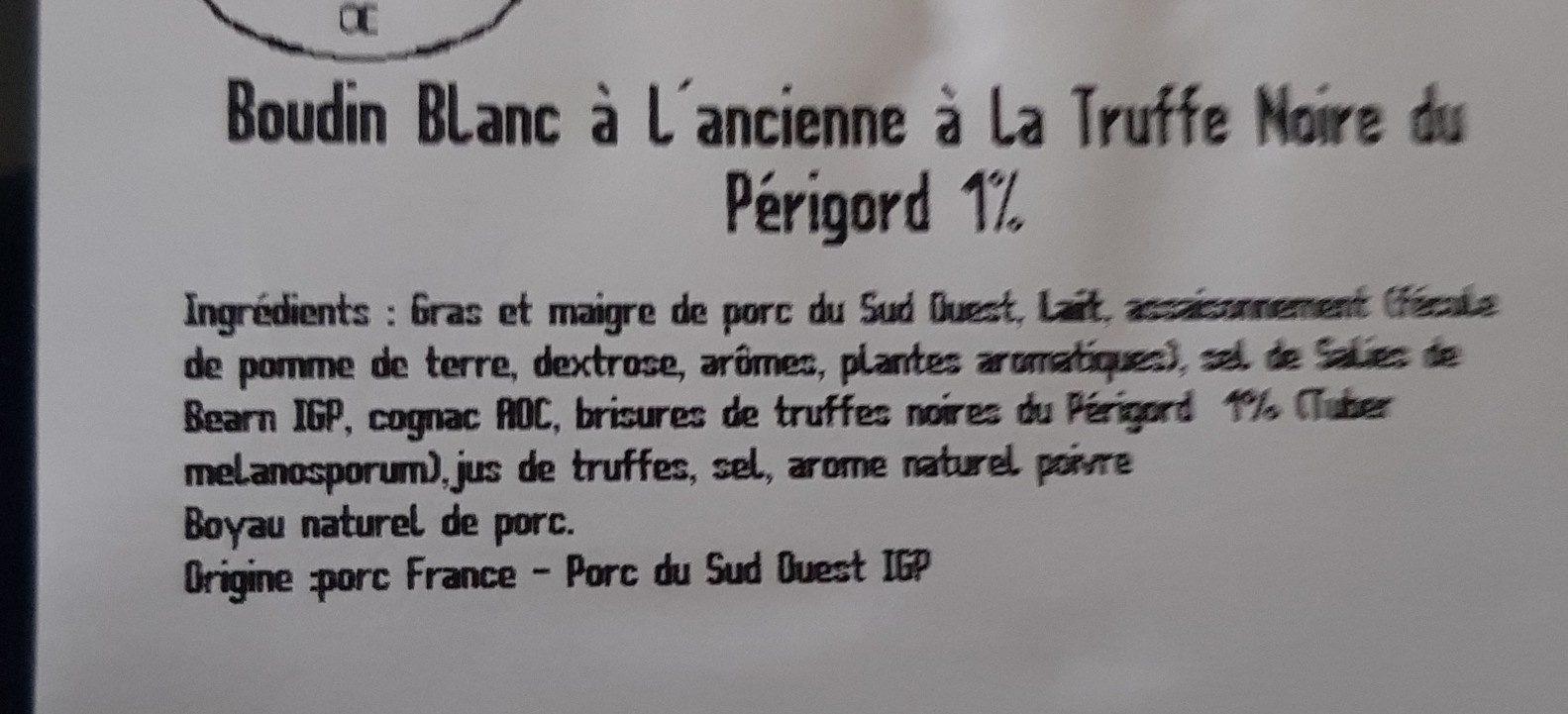 Boudin blanc à l ancienne - Ingrédients - fr