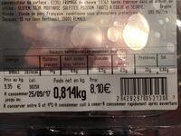 Roti filet de porc aux trois fromages - Informations nutritionnelles