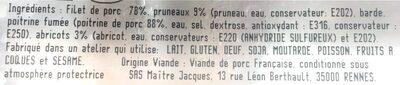 Roti de porc pruneaux et abricots - Ingrediënten - fr