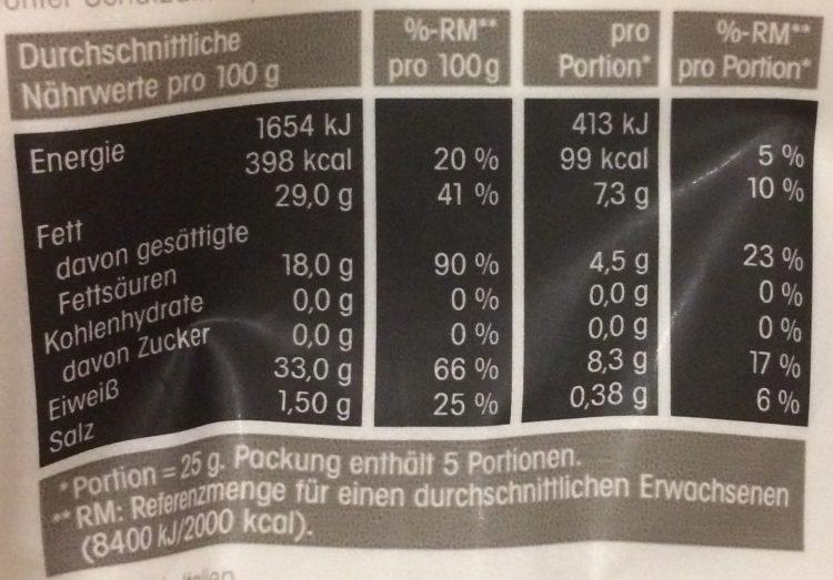 Grana Padano Flakes - Informations nutritionnelles - fr