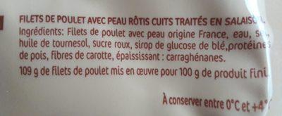 Filets de poulet rôti - Ingrediënten - fr