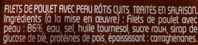 Filets de poulet rôtis - Ingredients - fr