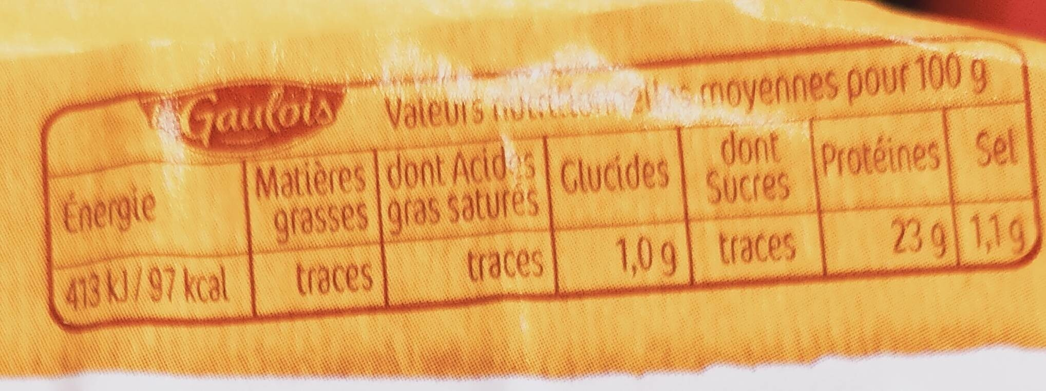 Escalope de dinde  extra tendre - Nutrition facts - fr