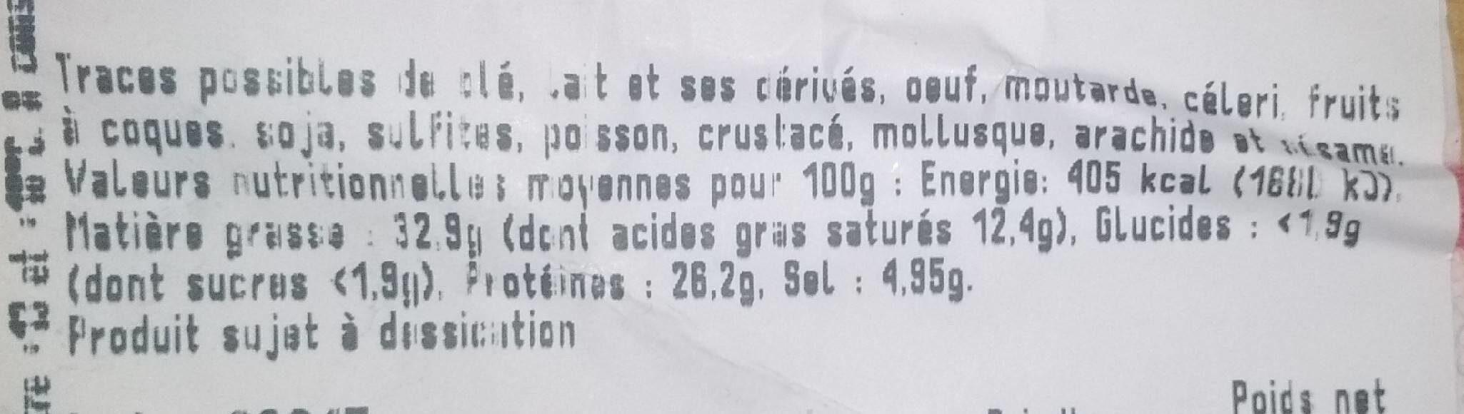 Guignolo (pur porc) - Informations nutritionnelles - fr