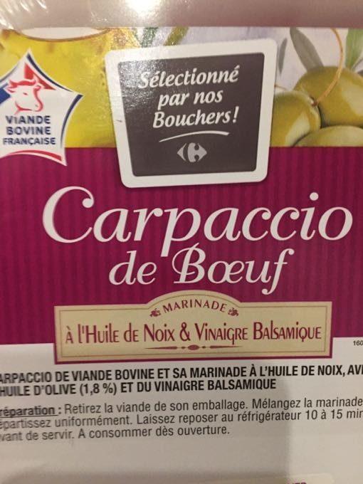 Carpaccio A L'huile De Noix - Product