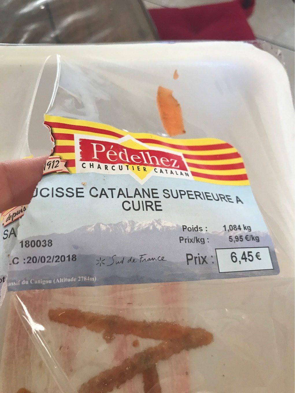 Saucisse catalane - Produit - fr