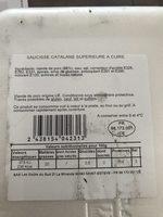 Saucisse catalane - Ingrédients - fr