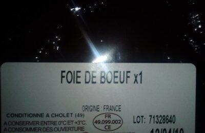 Foie de beuf - Ingredients