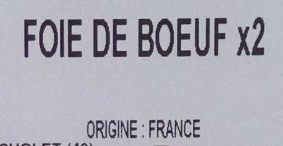 Foie de bœuf - Ingrediënten