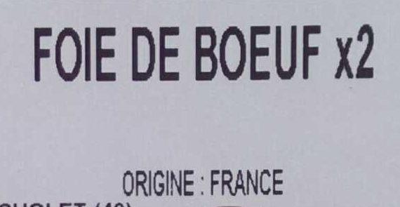 Foie de bœuf - Ingrediënten - fr
