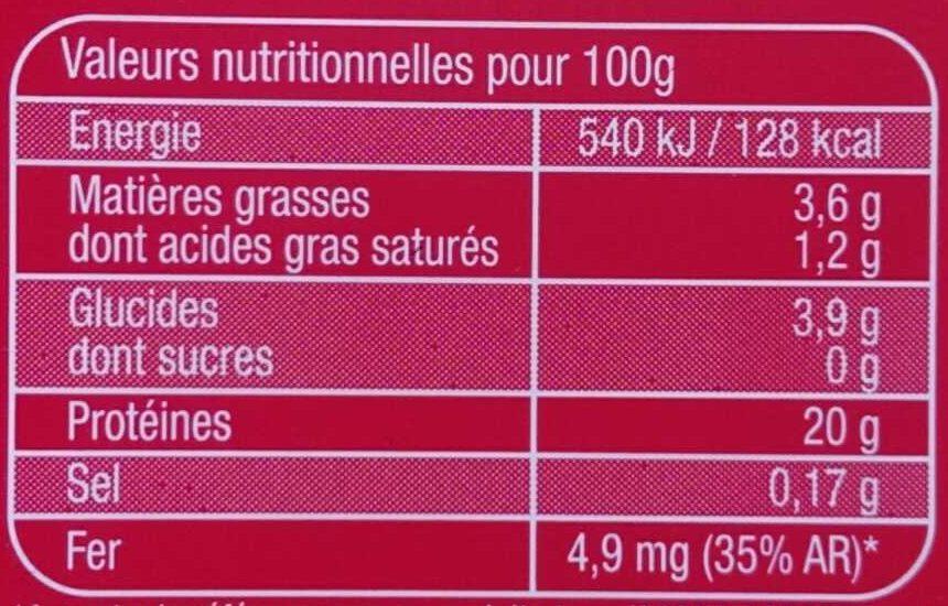 Foie de bœuf - Voedingswaarden - fr