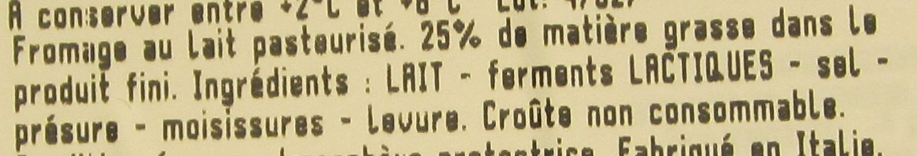 Gorgonzola AOP - Ingrédients