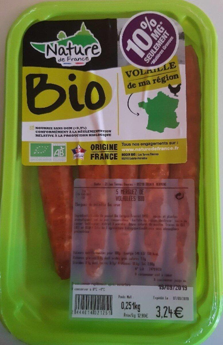 Merguez de volaille bio - Product - fr