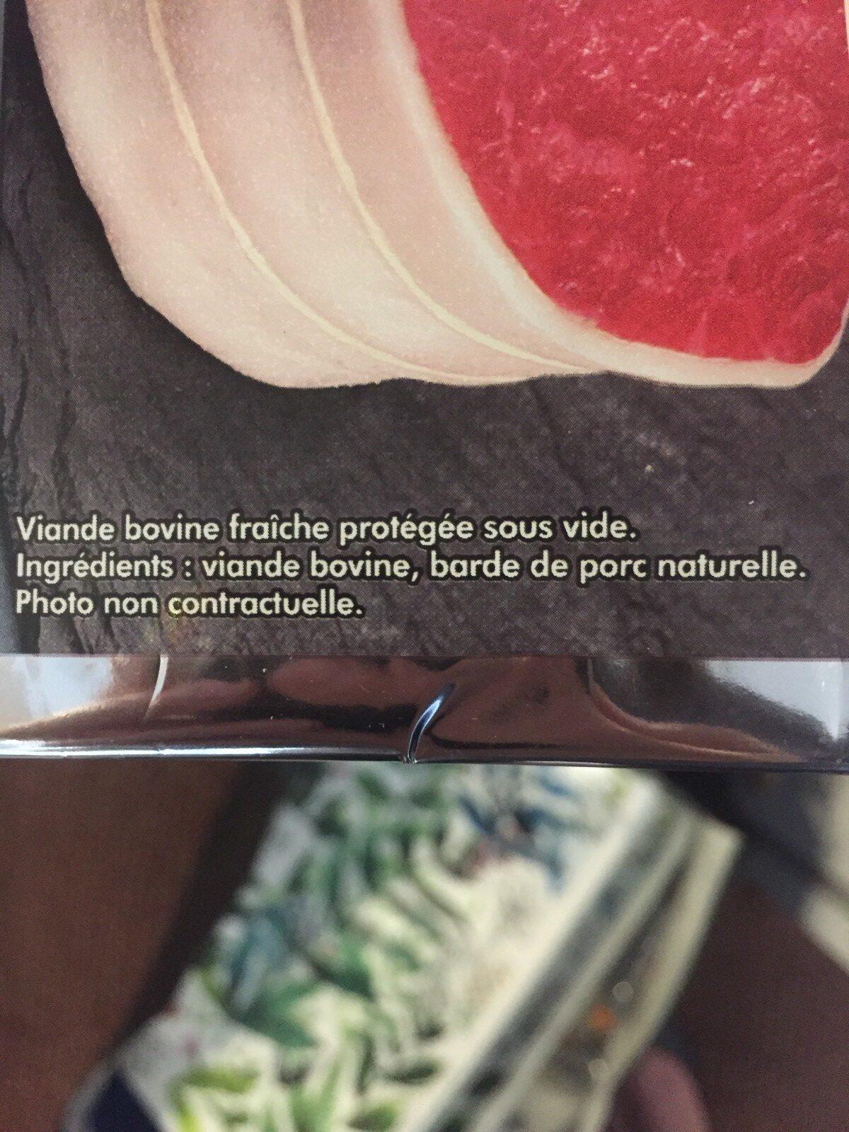 Paves en tournedos - Ingrediënten - fr