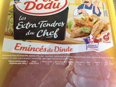 Emincés de poulet - Ingrediënten