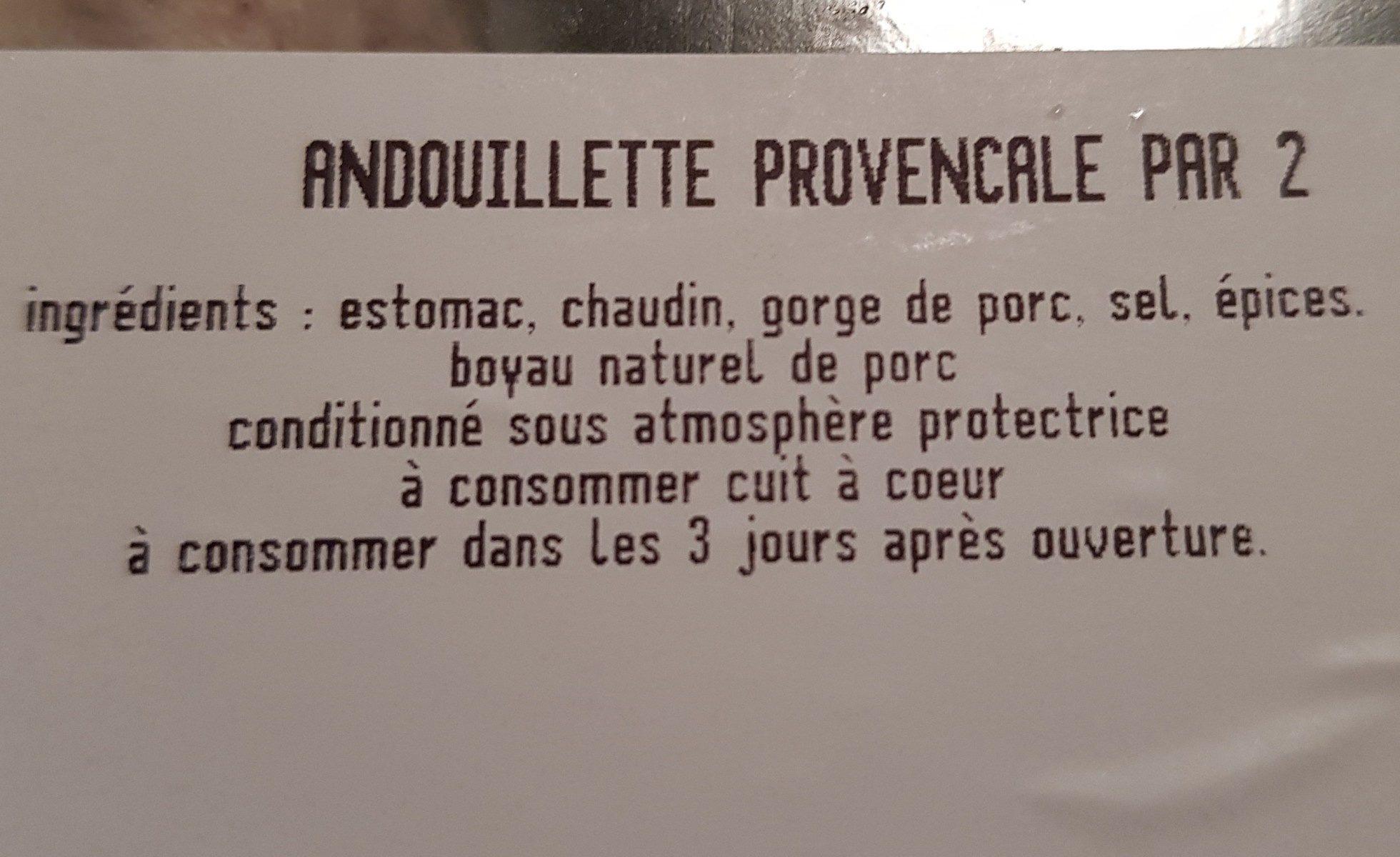 Andouillette provençal - Ingrédients