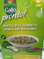 Risotto con calabacín, espinaca y quinoa roja - Producte - pt