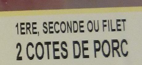 2 Côtes de Porc - Ingrediënten - fr