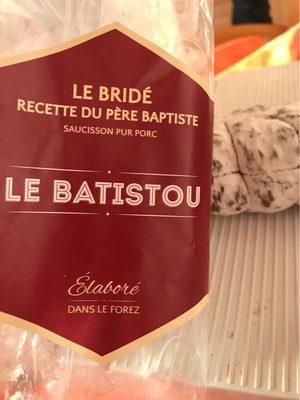 Le bridé - recette du père baptiste - Saucisson pur porc - Product - fr