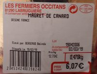 Magret de canard - Ingrediënten