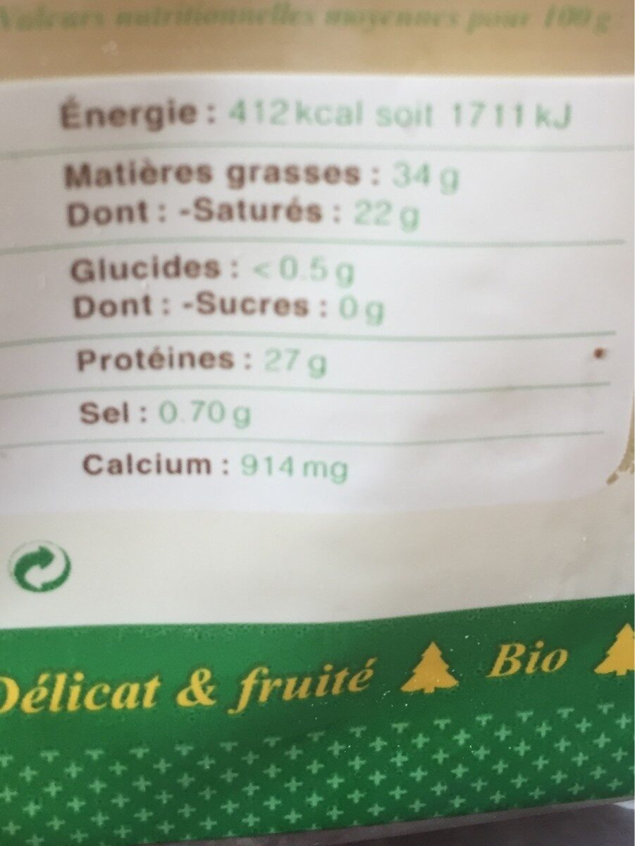 Comte Marcel Petite - Ingredients - fr