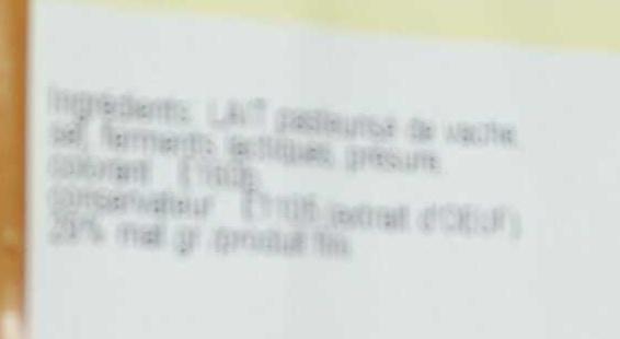 Mimolette Vieille - Ingrédients - fr