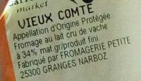 Vieux Comté - Ingredients