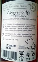 Coteaux Aix en Provence 2012 - Ingredients - fr
