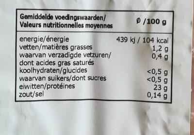 Aiguillettes de poulet - Voedigswaarden