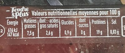 Tranches extra-fines de bœuf - Nutrition facts