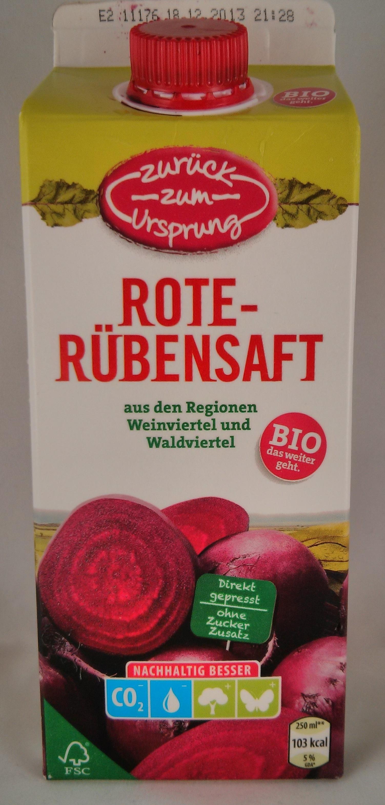 Rote-Rübensaft aus den Regionen Weinviertel und Waldviertel - Product - de