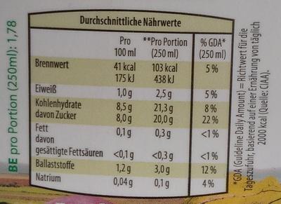 Rote-Rübensaft aus den Regionen Weinviertel und Waldviertel - Nutrition facts